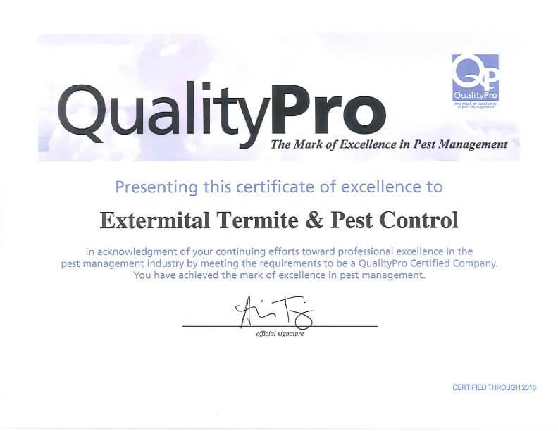 Extermital Termite & Pest Control | Mason, OH | QualityPro Endorsement